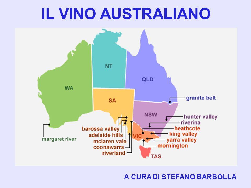 CENNI STORICI LA VITICULTURA E LENOLOGIA AUSTRALIANE SONO INIZIATE CON IL CAPITANO ARTHUR PHILLIP GOVERNATORE NEL 1788.
