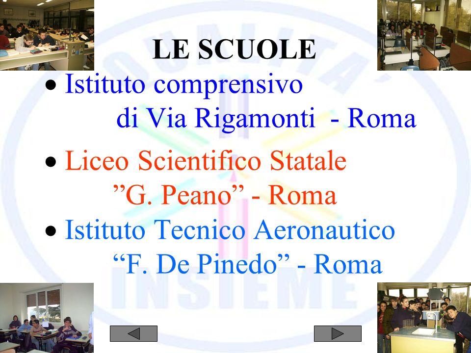 LE SCUOLE Istituto comprensivo di Via Rigamonti - Roma Liceo Scientifico Statale G.