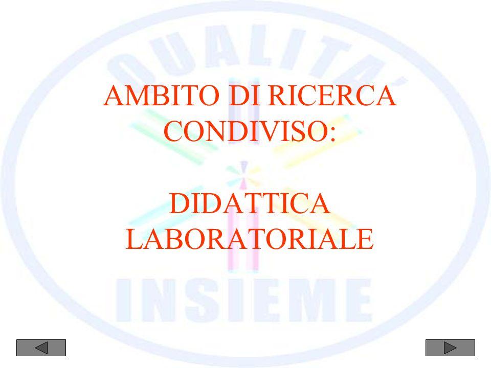 AMBITO DI RICERCA CONDIVISO: DIDATTICA LABORATORIALE