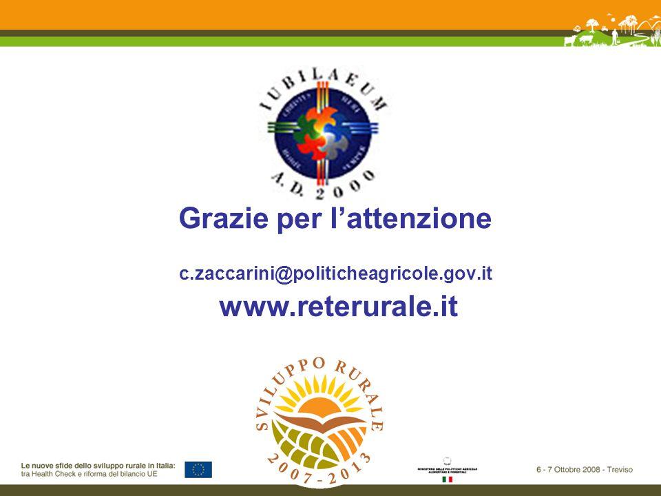 Grazie per lattenzione c.zaccarini@politicheagricole.gov.it www.reterurale.it
