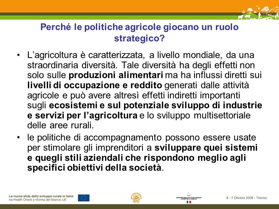 Perché le politiche agricole giocano un ruolo strategico.