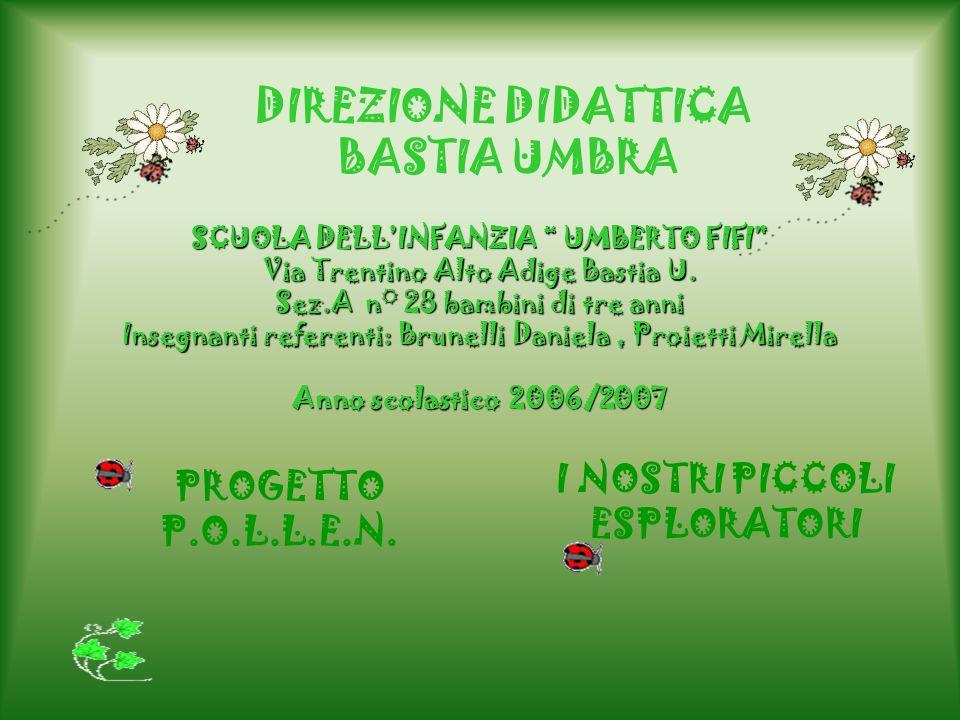 DIREZIONE DIDATTICA BASTIA UMBRA SCUOLA DELLINFANZIA UMBERTO FIFI Via Trentino Alto Adige Bastia U. Sez.A n° 28 bambini di tre anni Insegnanti referen