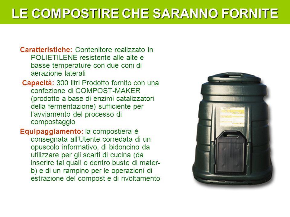 Caratteristiche: Contenitore realizzato in POLIETILENE resistente alle alte e basse temperature con due coni di aerazione laterali Capacità: 300 litri
