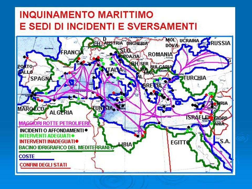 Situazione del mediterraneo OPERAZIONI OFFSHORE OPERAZIONI OFFSHORE Nel Mediterraneo allo stato attuale, sono attive oltre 100 piattaforme offshore nelle acque italiane, greche, libiche, spagnole, turche e tunisine.