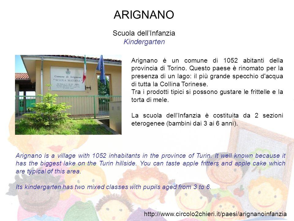 ANDEZENO Scuola dellInfanzia Kindergarten Piccolo centro di 2000 abitanti, sulle pendici della collina torinese.