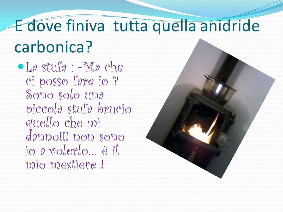 ... Il ciclo del Carbonio … Cera una volta, in una casa, una piccola stufa che bruciava tutto il giorno … quanto fumo !! Una signora esclamò:- Quanta