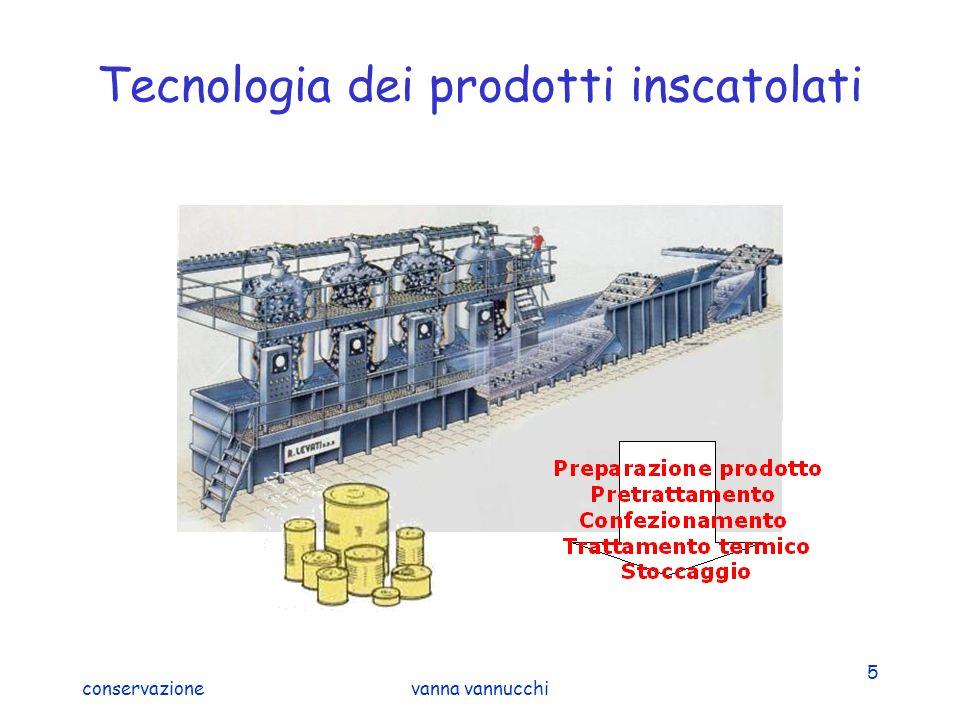 conservazionevanna vannucchi 6 Confezionamento asettico Tecnologia delicata che mantiene le caratteristiche del prodotto Sterilizzazione in continuo del prodotto sfuso + confezionamento asettico a freddo in un contenitore sterile