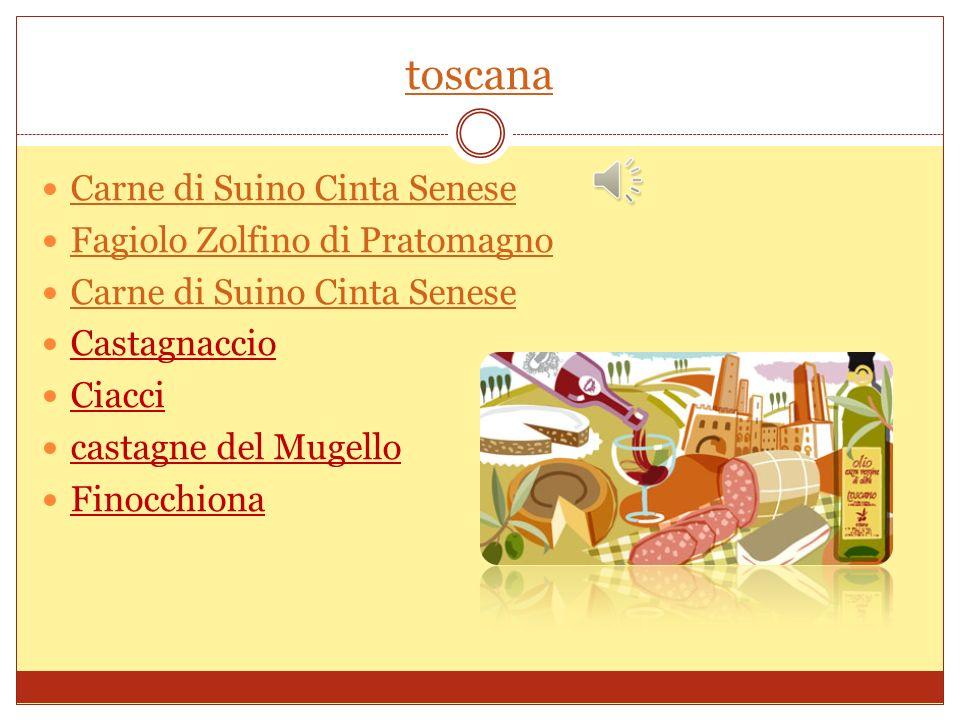 Umbria Patata Rossa di Colfiorito Salumi di Daino Prosciutto di Norcia IGP Prosciutto di cinghiale Lenticchie di Castelluccio Cioccolato