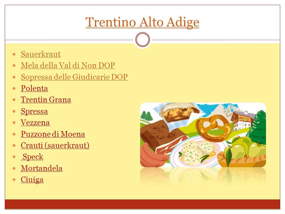 Friuli Venezia Giulia Petina Salato della Carnia Tabor Montasio DOP Ricotta affumicata Prosciutto d oca Grappa Asparagi bianchi Radicchi Mele Olio extravergine, il Tergeste