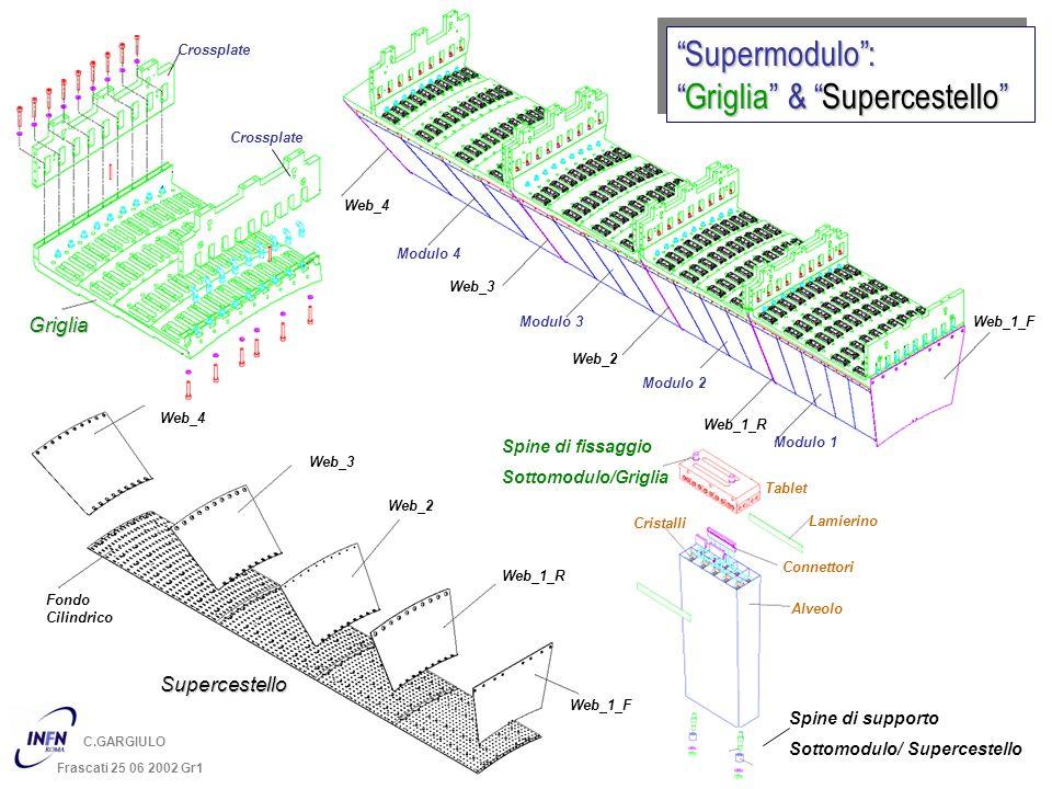 C.GARGIULO Frascati 25 06 2002 Gr1 Supermodulo: Griglia & SupercestelloGriglia & SupercestelloSupermodulo: Crossplate Griglia Spine di fissaggio Sotto