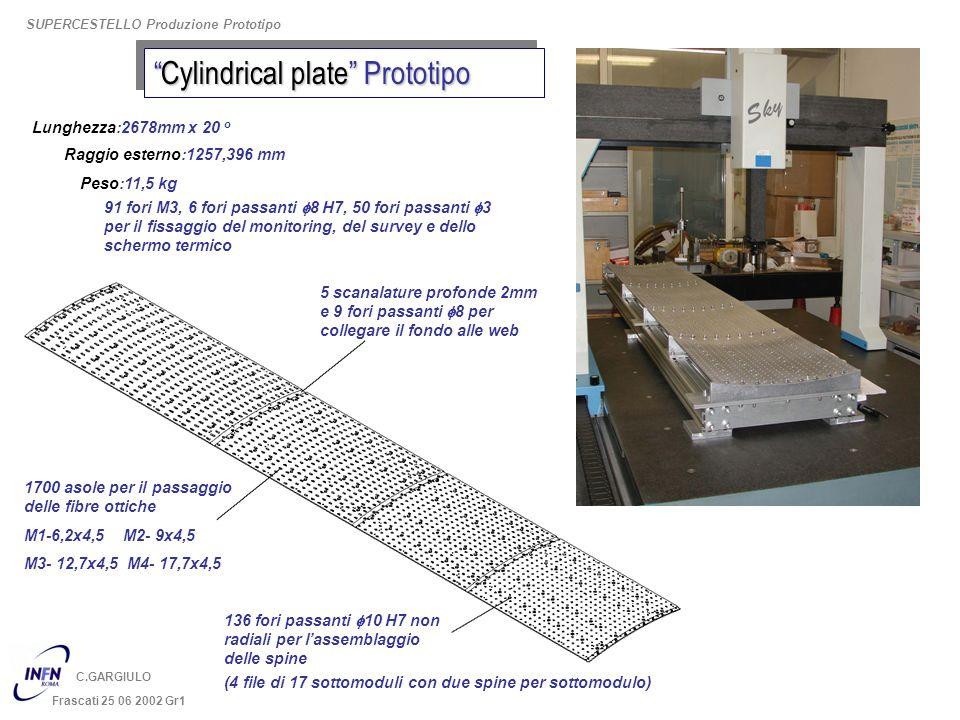 Cylindrical plate PrototipoCylindrical plate Prototipo 5 scanalature profonde 2mm e 9 fori passanti f8 per collegare il fondo alle web 1700 asole per