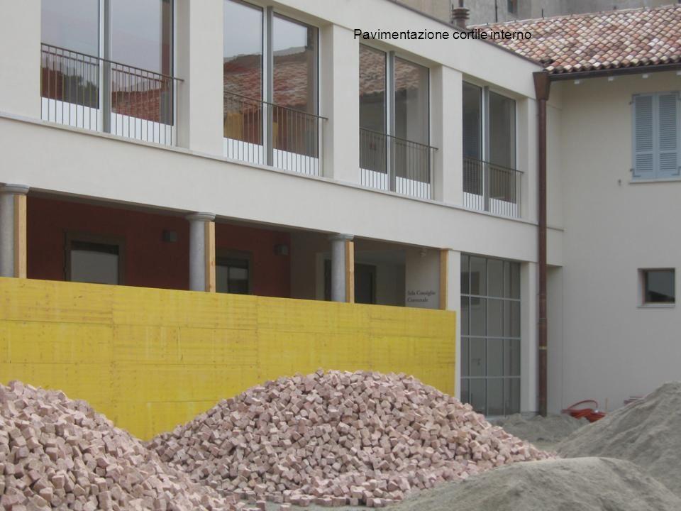 Pavimentazione cortile interno