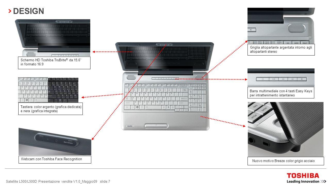 Satellite L500/L500D Presentazione vendite V1.0_Maggio09 slide:17 BACKUP