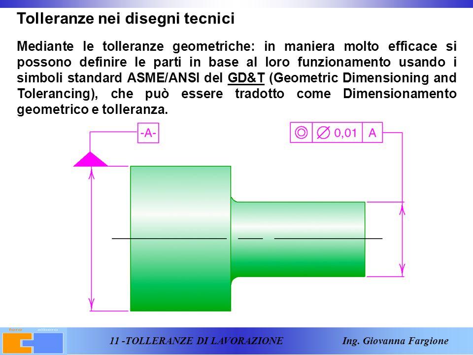 11 -TOLLERANZE DI LAVORAZIONE Ing.