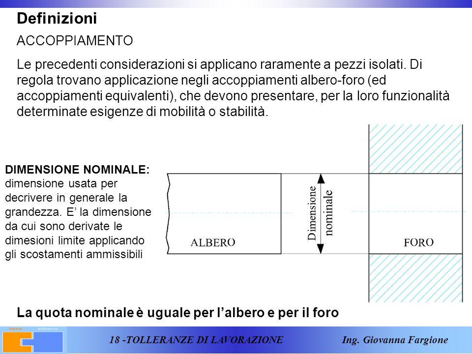 18 -TOLLERANZE DI LAVORAZIONE Ing.