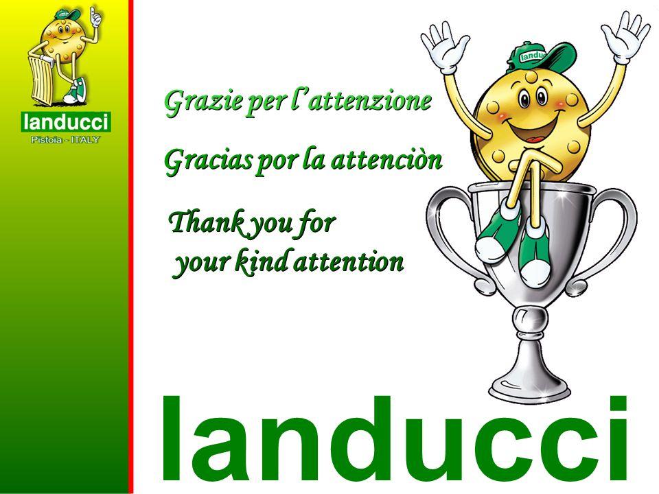 landucci Grazie per lattenzione Gracias por la attenciòn Grazie per lattenzione Gracias por la attenciòn Thank you for your kind attention Thank you f