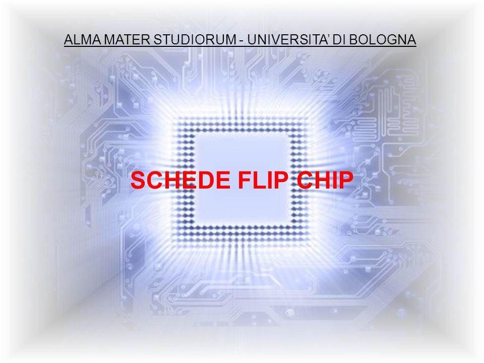 ALMA MATER STUDIORUM - UNIVERSITA DI BOLOGNA SCHEDE FLIP CHIP