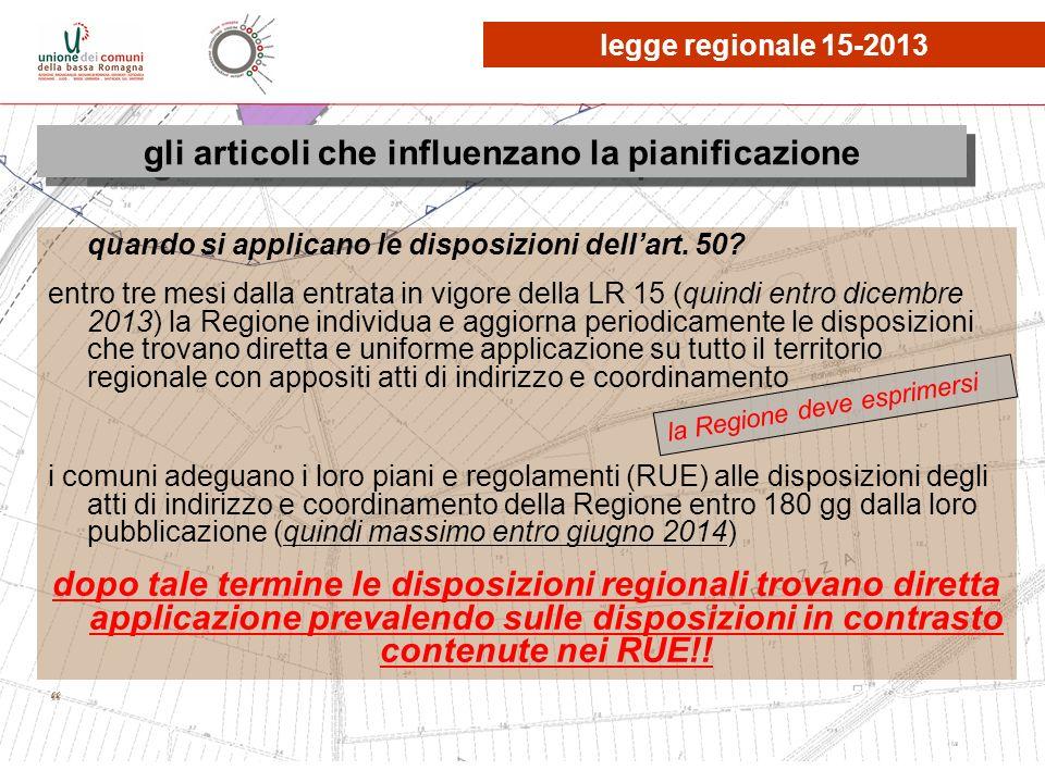 le osservazioni, quante? gli articoli che influenzano la pianificazione legge regionale 15-2013 la Regione deve esprimersi