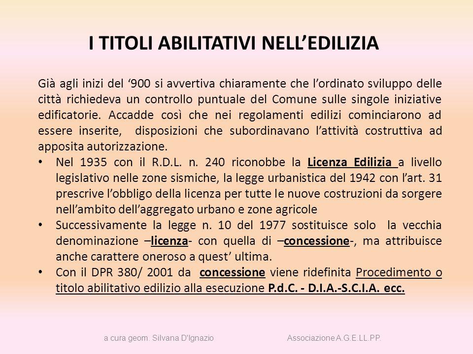 2013 TITOLI e PROCEDIMENTI ABILITATIVI a cura geom.