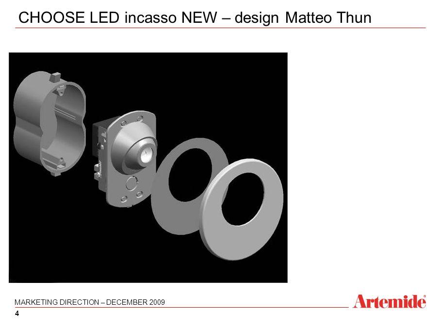 4 4 CHOOSE LED incasso NEW – design Matteo Thun MARKETING DIRECTION – DECEMBER 2009