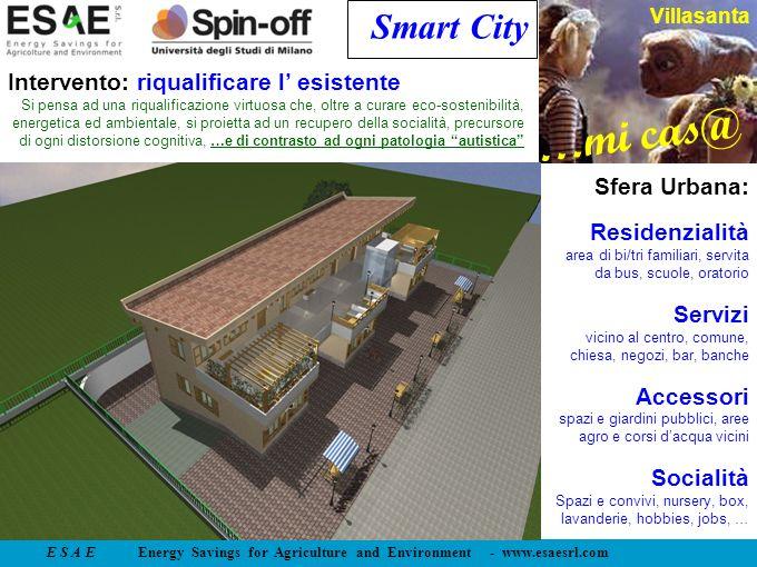 E S A E Energy Savings for Agriculture and Environment - www.esaesrl.com …mi cas@ Villasanta Smart City Intervento: riqualificare l esistente Si pensa