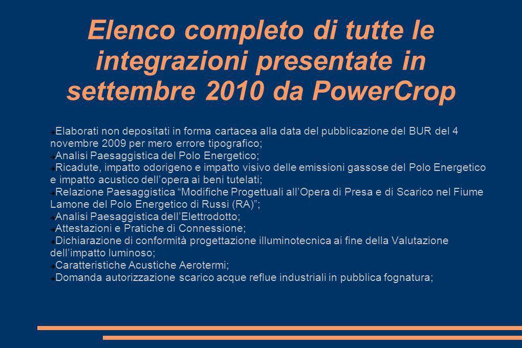 Alimentazione della centrale (3) Nel contratto stipulato fra Coldiretti, Consorzi Agrari dItalia e S.E.C.I.