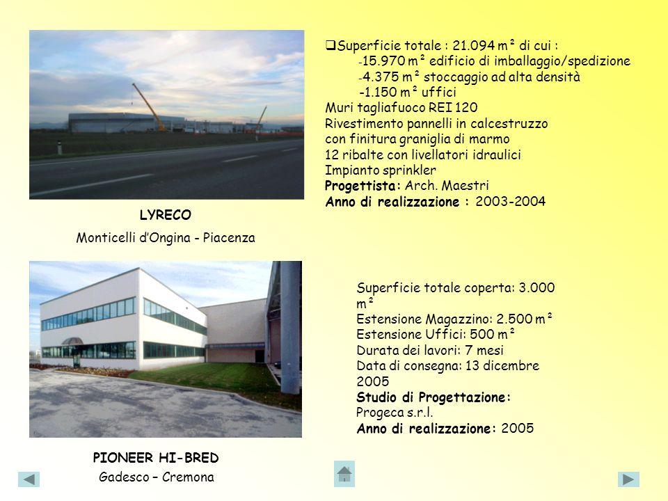 Edificio realizzato su un terreno di 102.000 m², per un totale di 56.605 m² coperti.