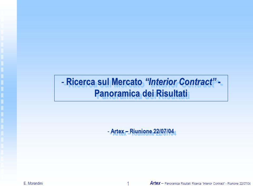 E. Morandini Artex – Panoramica Risultati Ricerca Interior Contract - Riunione 22/07/04 1 - Ricerca sul Mercato Interior Contract - Panoramica dei Ris