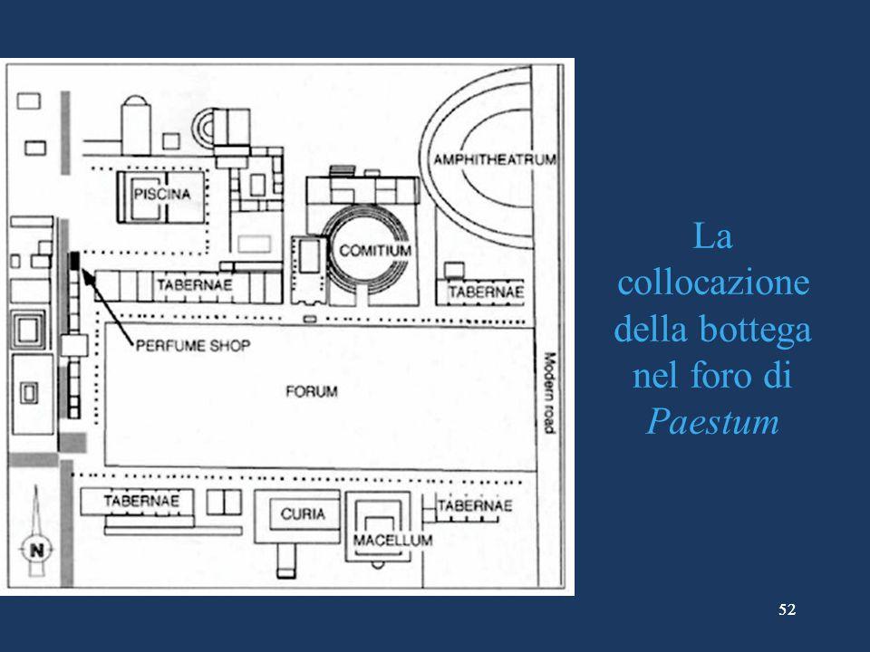 52 La collocazione della bottega nel foro di Paestum