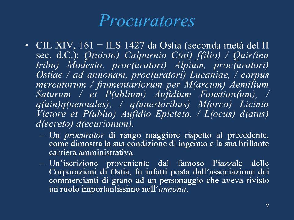 118 CIL XVI, 95: il testo interno del diploma militare di un pretoriano Imp(erator) Caes(ar) divi Hadriani f(ilius).