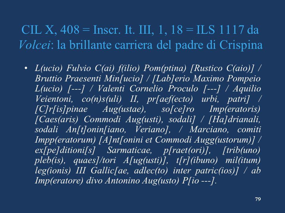 79 CIL X, 408 = Inscr.It.
