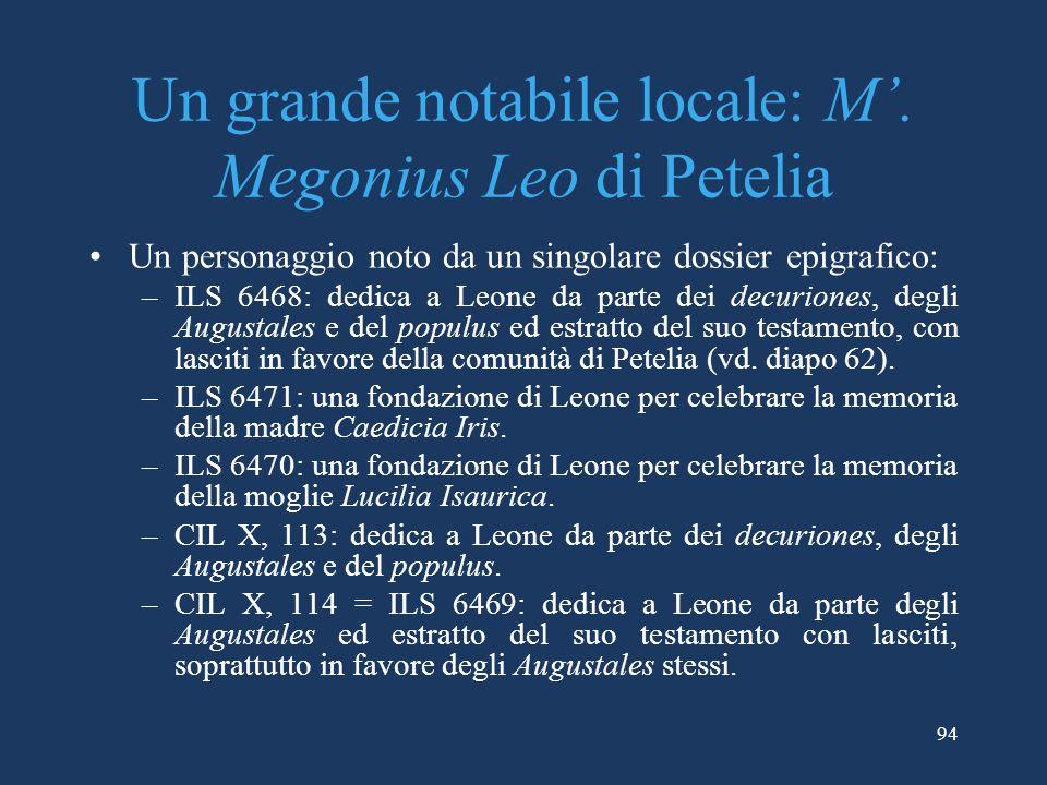 Un grande notabile locale: M.