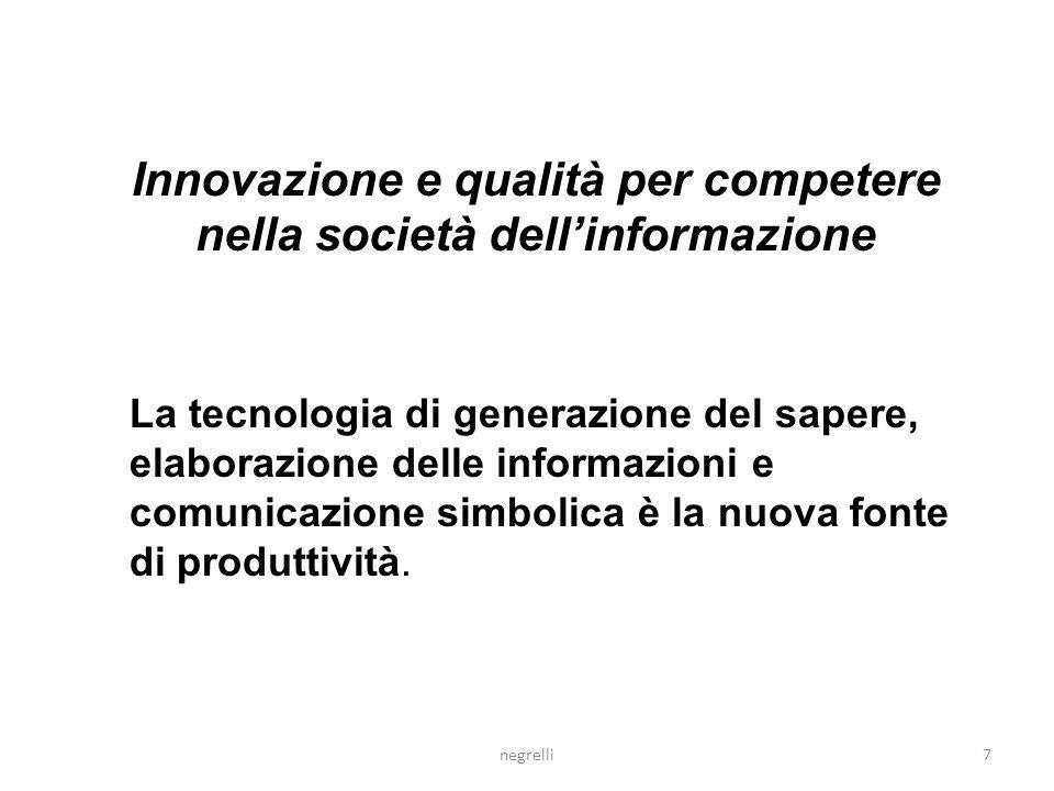 Innovazione INNOVAZIONE ANALITICAINNOVAZIONE INTERPRETATIVA Focus: un progetto con inizio e fine ben definiti Focus: un processo ongoing e open-ended