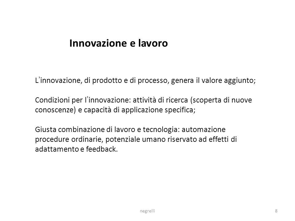 7 Innovazione e qualità per competere nella società dellinformazione La tecnologia di generazione del sapere, elaborazione delle informazioni e comuni