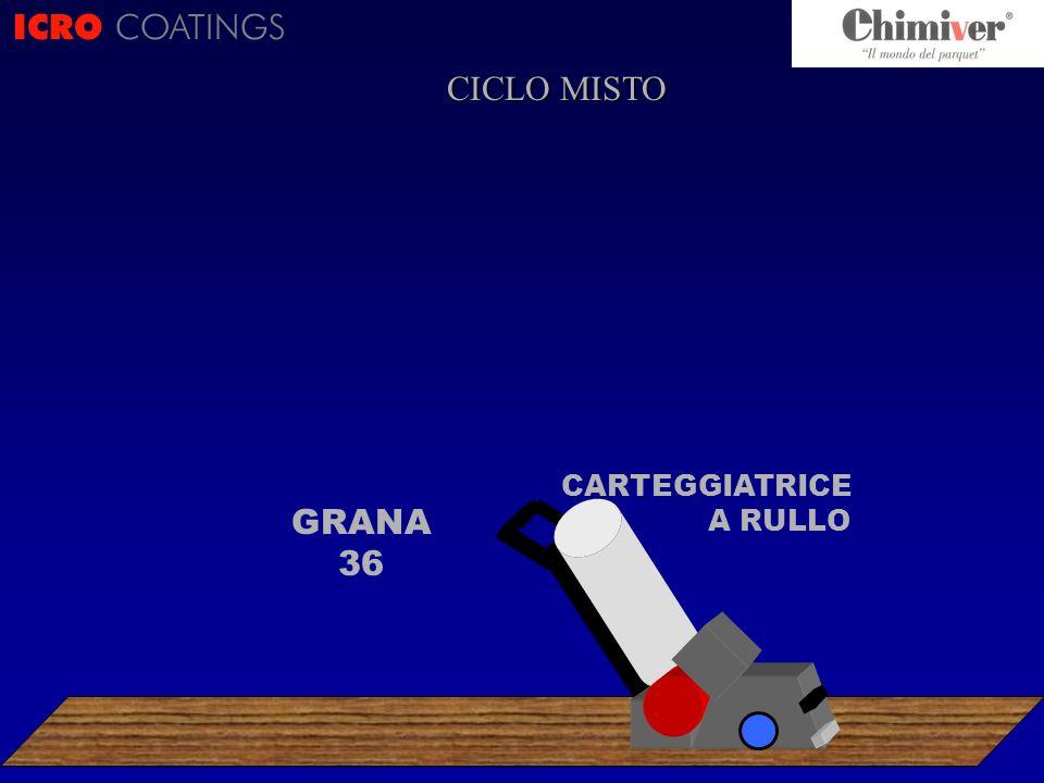 ICRO COATINGS CARTEGGIATRICE A RULLO GRANA 36 CICLO MISTO