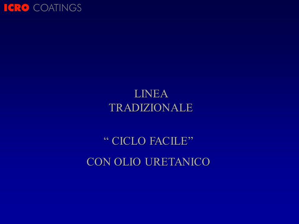 ICRO COATINGS LINEA TRADIZIONALE CICLO FACILE CICLO FACILE CON OLIO URETANICO