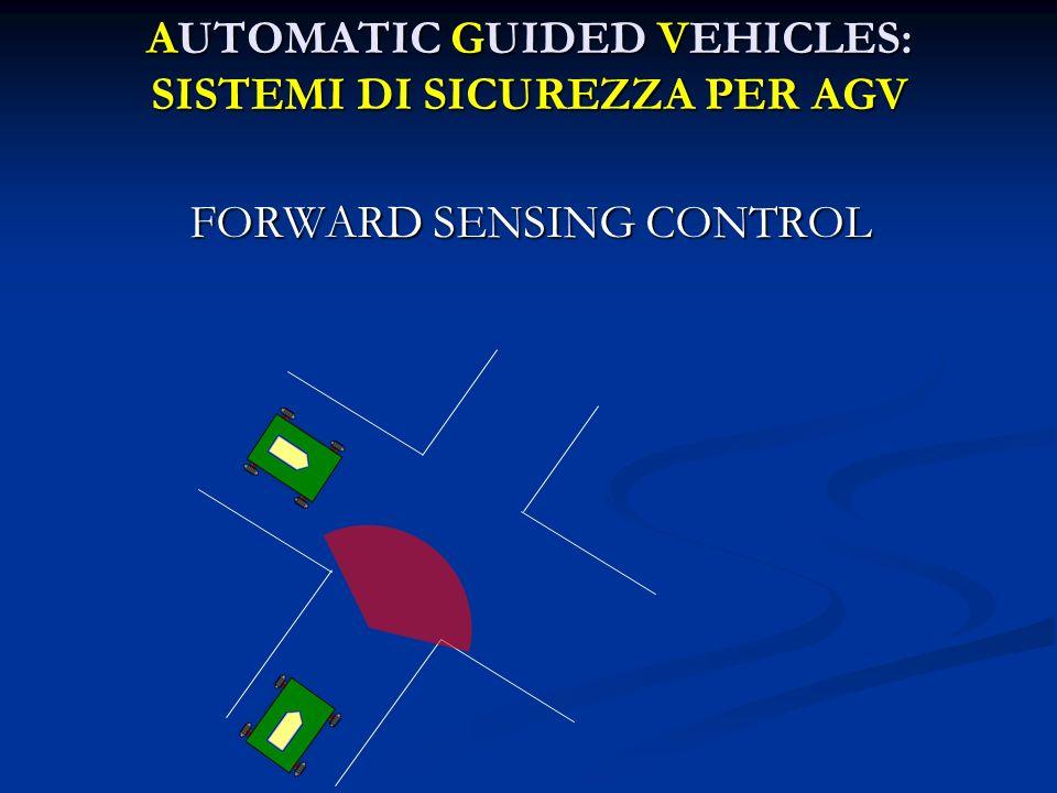 AUTOMATIC GUIDED VEHICLES: SISTEMI DI SICUREZZA PER AGV FORWARD SENSING CONTROL