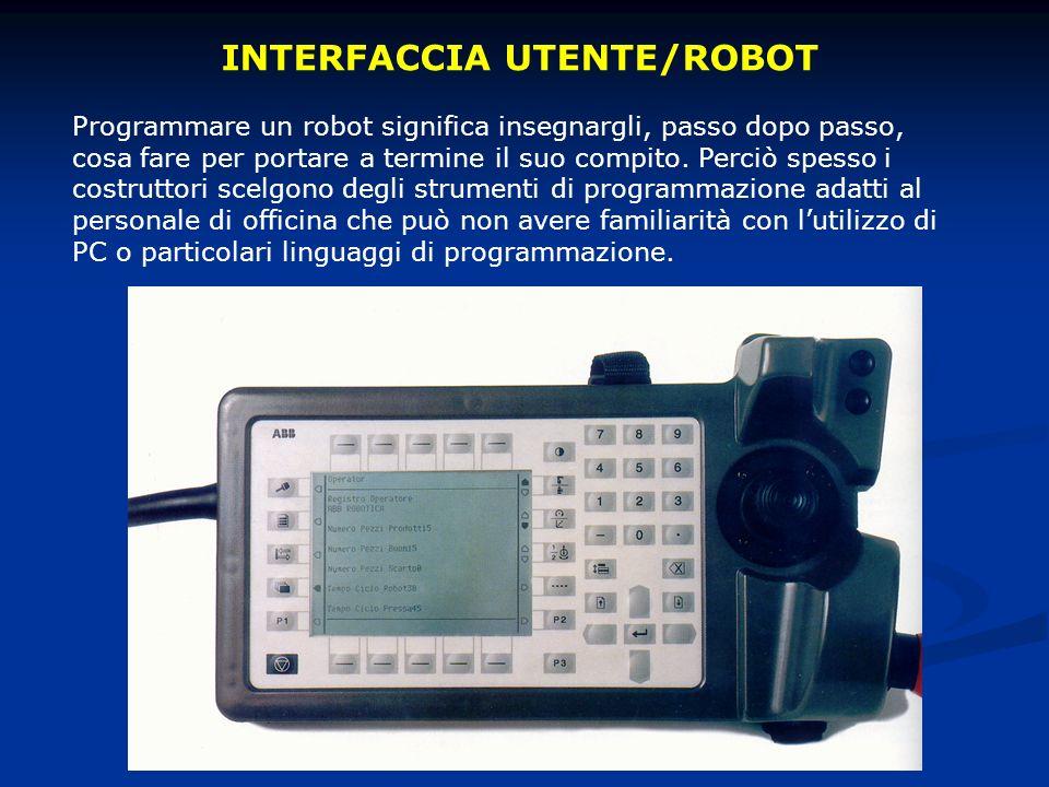 Programmare un robot significa insegnargli, passo dopo passo, cosa fare per portare a termine il suo compito.