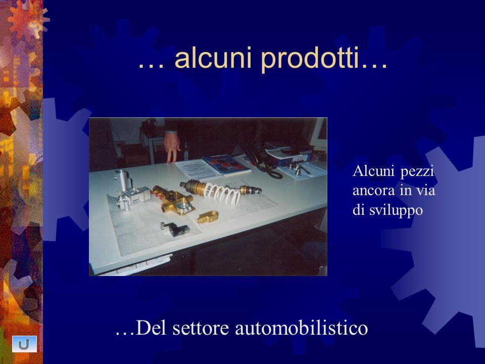 … alcuni prodotti… …Del settore automobilistico Alcuni pezzi ancora in via di sviluppo