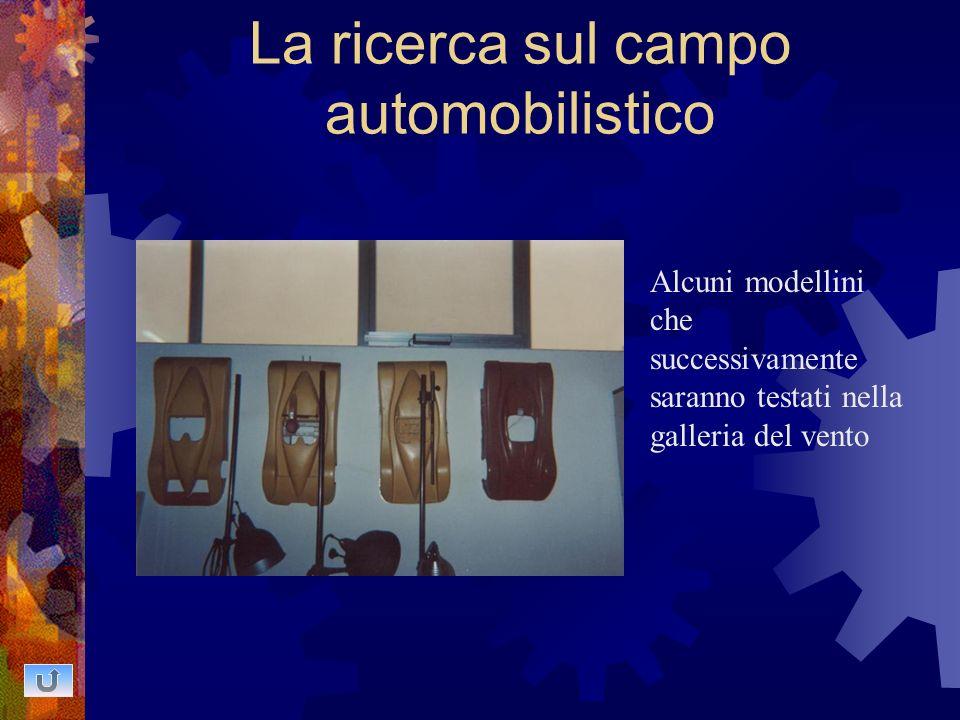La ricerca sul campo automobilistico Alcuni modellini che successivamente saranno testati nella galleria del vento