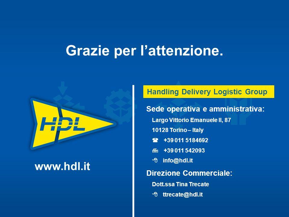 Sede operativa e amministrativa: Largo Vittorio Emanuele II, 87 10128 Torino – Italy +39 011 5184692 +39 011 542093 info@hdl.it Direzione Commerciale: