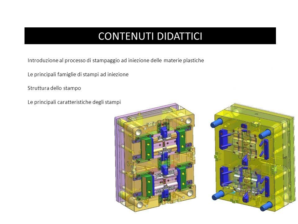 CONTENUTI DIDATTICI Introduzione al processo di stampaggio ad iniezione delle materie plastiche Le principali famiglie di stampi ad iniezione Struttur