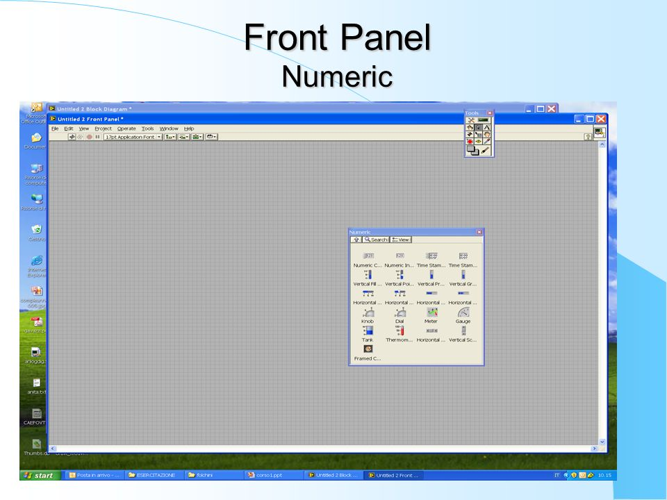 Front Panel Numeric