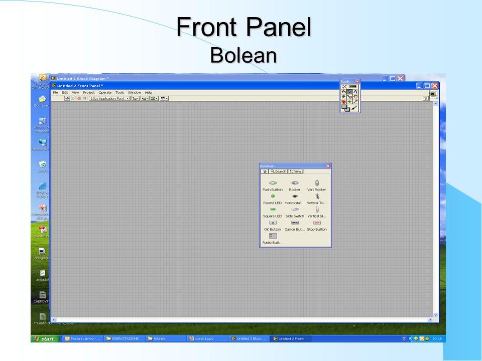 Front Panel Bolean