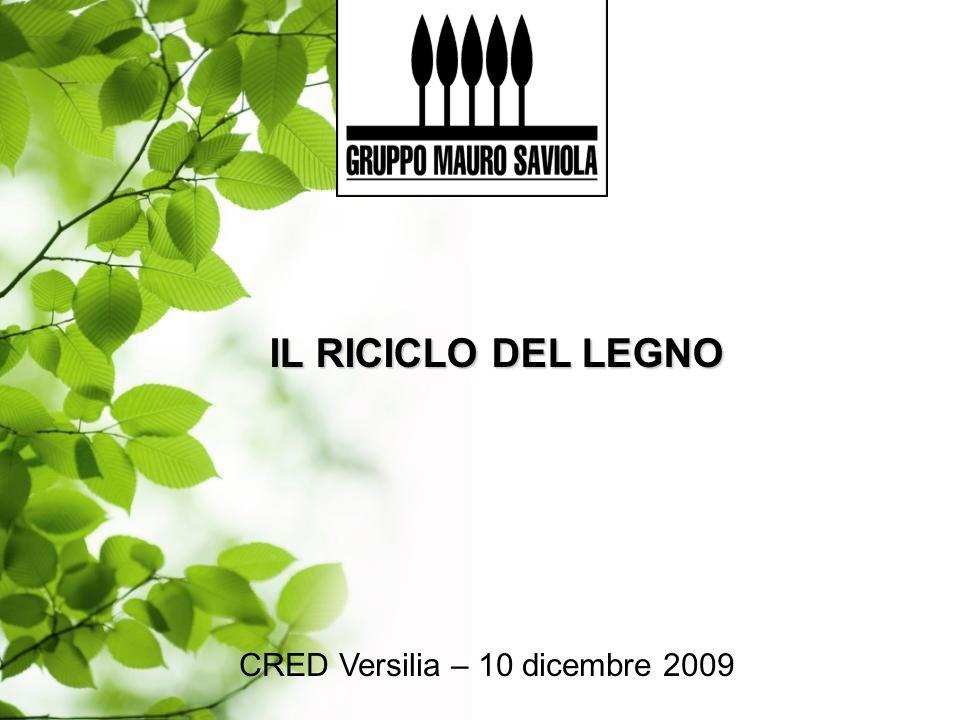 CRED Versilia – 10 dicembre 2009 IL RICICLO DEL LEGNO