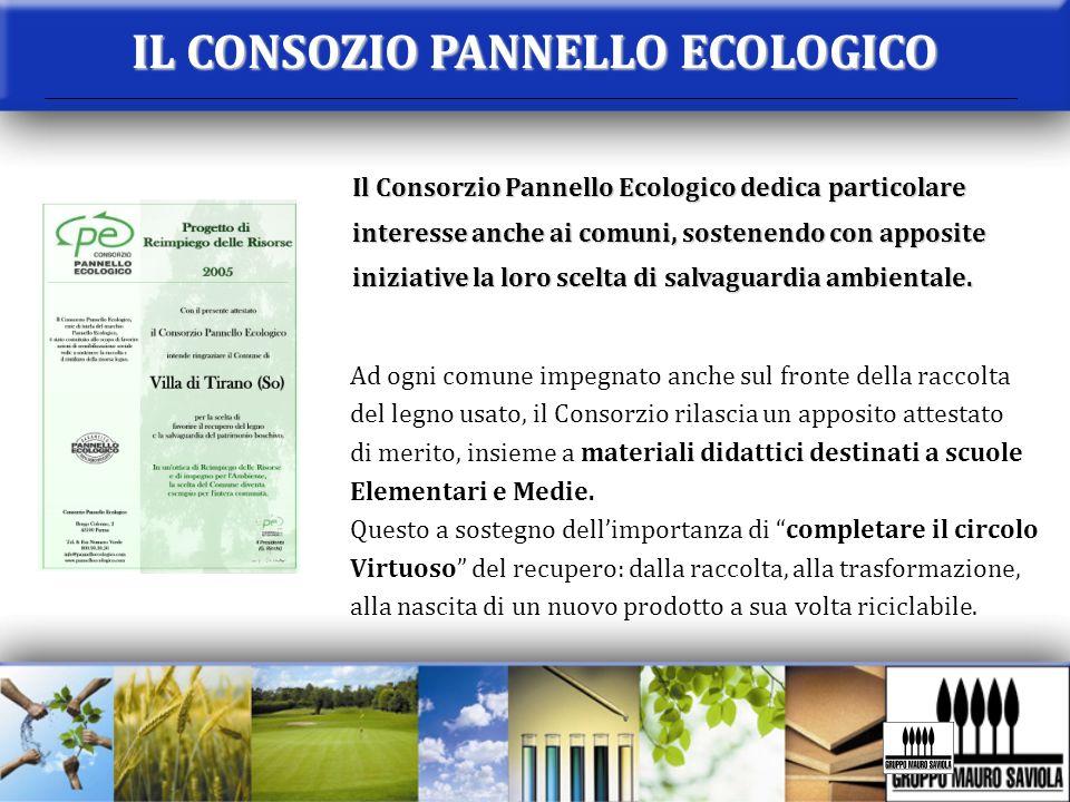 IL CONSOZIO PANNELLO ECOLOGICO Il Consorzio Pannello Ecologico dedica particolare interesse anche ai comuni, sostenendo con apposite iniziative la lor