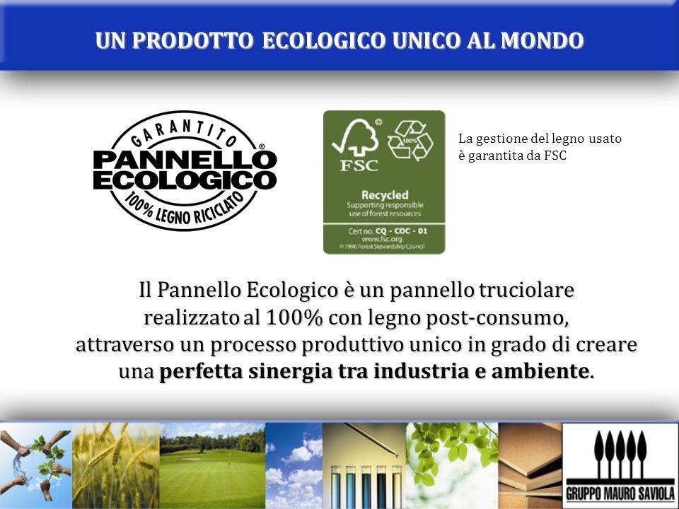Il Pannello Ecologico è un pannello truciolare realizzato al 100% con legno post-consumo, attraverso un processo produttivo unico in grado di creare u