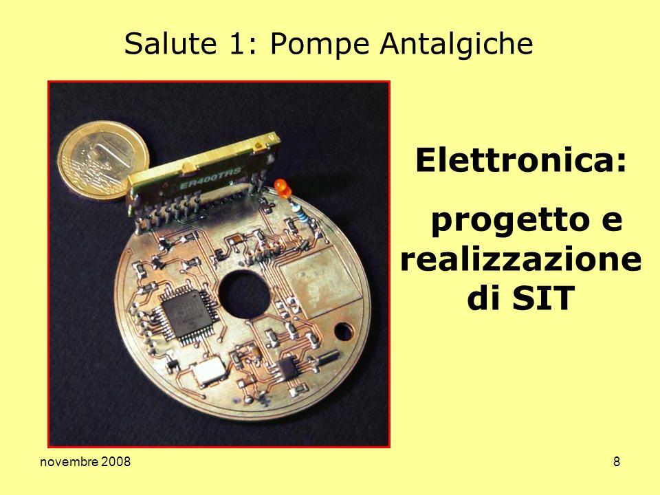 novembre 20088 Salute 1: Pompe Antalgiche Elettronica: progetto e realizzazione di SIT