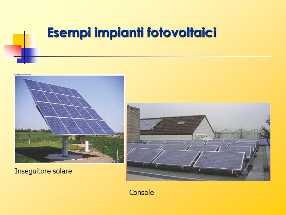 Inseguitore solare Console Esempi impianti fotovoltaici