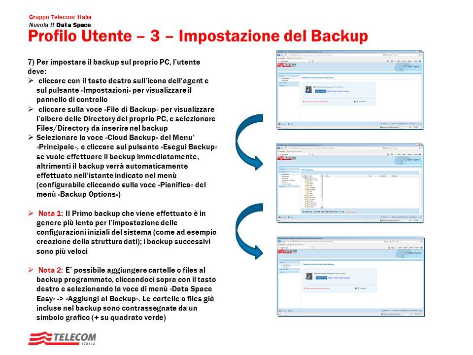 Gruppo Telecom Italia Nuvola It Data Space Cloud Drive Utente: Screenshot Accesso Cloud Gestione dei Folders/Files nel Cloud Sincronizzazione, Download dei files nel Cloud Creazione di Progetti per la condivisione di file/folders tra utenti e/o gruppi
